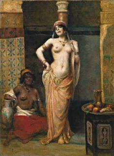 Henri Adrien Tanoux (French painter,1865-1923) - L' Odalisque