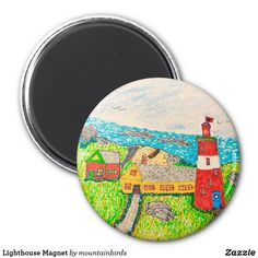 Shop Lighthouse Magnet created by mountainbirds. Lighthouse, Magnets, My Design, Bell Rock Lighthouse, Light House, Lighthouses