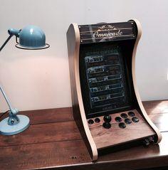 retro or steampunk arcade cabinet