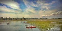 Outer Banks NC Local Artists Facebook post 5/23/15.  Kayakers enjoy idyllic day at Harbor Island.  Photographer credit: I Mancuso.
