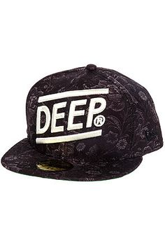 The Slope Fitted Hat in Black by 10 Deep
