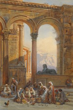 Carl Friedrich H. Werner (1808-1894) - Forum in the Palace of Dioclectian in Spalato, 1870