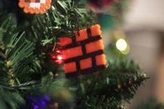 Bügelperlen Iron Beads Super Mario Super Mario, Christmas Ornaments, Holiday Decor, Home Decor, Christmas Jewelry, Christmas Tree, Christmas, Decoration Home, Room Decor