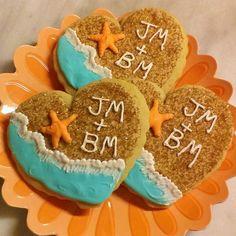 Beach Themed Wedding Shower Cookies
