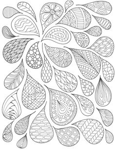 Pattern Drops Coloring Page von MusingsbyNikki auf Etsy - Drawing/lettering - . Paisley Coloring Pages, Rose Coloring Pages, Valentine Coloring Pages, Preschool Coloring Pages, Mandala Coloring, Coloring Books, Zentangle Drawings, Doodle Drawings, Doodle Art