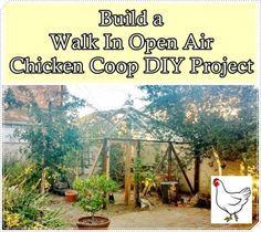 """Build a Walk In Open Air Chicken Coop DIY Project Homesteading - The Homestead Survival .Com """"Please Share This Pin"""""""