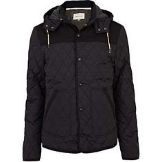 Navy diamond quilted jacket