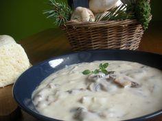 Žampionová omáčka recept - TopRecepty.cz Cheeseburger Chowder, Soup, Soups
