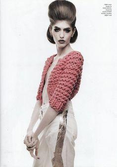 love this bulky knit mini-jacket