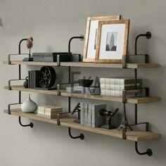 Aliexpress.com: Comprar Vintage hierro americano de madera palabra pared estante…
