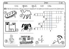 Fichas infantiles para aprender a leer y aprender a escribir con la letra C. Dibujos Lectoescritura con letra C para colorear. Lectoescritura_CyQ_31