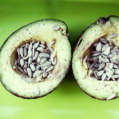 Snack: Avocado With Sunflower Seeds