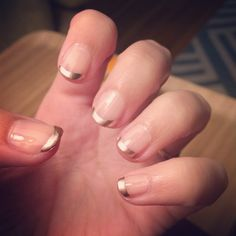 My rose gold french mani! OPI In the Spot-light Pink & Essie Penny Talk tips.