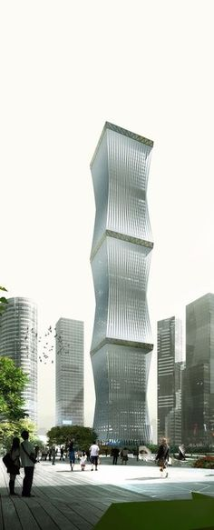 Equator Tower, Kuala Lupur, Malaysia be REX Architects :: 80 floors, height 380m