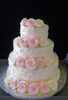 Yo quiero una torta con esta decoración....adoro las flores!!!! :)
