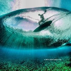 Underwater at Teahupoo… Captured by: Ben Thouard