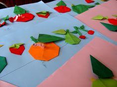 Jabłka, gruszki, wiśnie, śliwki i truskawki – origami – 7 sierpień - Archiwum - Archiwum strony internetowej Gminy Sadki