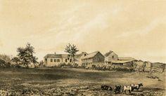 Longwood House, Napoleon's home on the island of St. Helena (1815-1821)