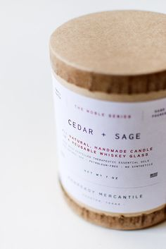 Man Ready Mercantile Cedar and Sage Soy Candle [Cedar and Sage Soy Candle]