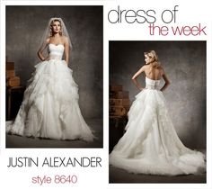 Dress Of The Week: 8640    This strapless sweetheart has a pleated asymmetrical bodice that is accented with a 4-inch wide delicately beaded belt. The skirt is made from mille-feuille organza that adds movement and volume to the beautiful skirt.     Wedding Dresses by Justin Alexander   #wedding #dress #gown #designerdress -  - more at: http://pinned-recipes.net