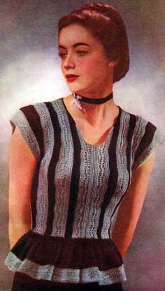 Vintage Free Knitting Pattern for Lady Edith I love this! This would be equally great with jeans or a skirt, daytime or evening.