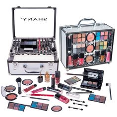 Make Up Kits, Powder Nail Polish, Powder Nails, Eyeshadow Primer, Eyeshadow Palette, Makeup Starter Kit, Dance Makeup, Cosmetic Kit, Full Makeup