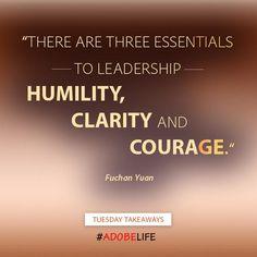 This week's #TuesdayTakeaways highlights 3 essential     leadership traits. #adobelife