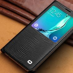 QIALINO Luxury Bag Lizard Genuine Leather Smart Auto wake & sleep View Phone Case Cover Shell for Samsung Galaxy S6 edge+ G928 $118.99   #glam #beautiful #streetstyle #fashion #instastyle #dress #instalike #instafashion #love #cool #sweet #ootd #shopping #swag #iwant