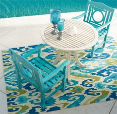 Add character to the garden, patio or sunroom: the distinctive openwork design and smooth, slatted surfaces make each piece of the Paxton Yorkshire Collection a pleasure from every angle. | Fresh + Fab Outdoor Pad