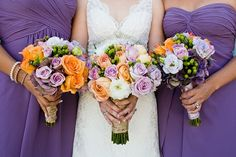 Maybe this shade of purple for the bridesmaids?