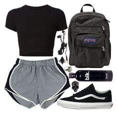 A fashion look from September 2016 featuring crop tops, vans shoes and jansport bags. Browse and shop related looks. Cute Lazy Outfits, Cute Swag Outfits, Sporty Outfits, Mode Outfits, Retro Outfits, Stylish Outfits, Teen Fashion Outfits, Look Fashion, Outfits For Teens