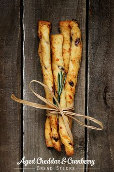 Aged Cheddar and Cranberry Bread Sticks