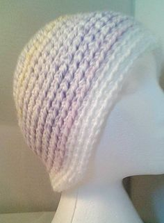 Girls Woolley Hat ~ Icy Colours ~ Crocheted Winter Hat ~ Woollen Beanie ~  Gift for c929577fe