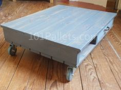 Wooden Pallet Coffee Table Instructions