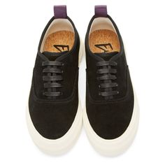 timeless design 37903 6d457 Eytys - Black Suede Mother Sneakers Svarta Skor, Skåpbilar, Mode