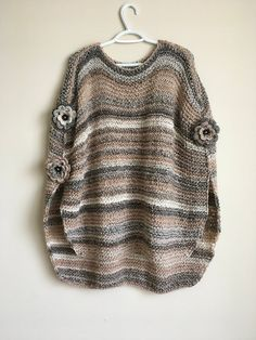 Poncho tejido a mano | Etsy