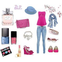 pink/jeans combinations