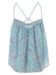 Dress Gallery   Palm Pineapple Menthe Top   GIRISSIMA.COM