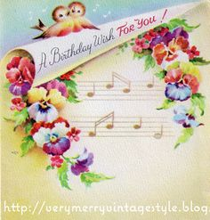 vintage birthday | Vintage Birthday Cards & Share the Love Wednesday Link Party!