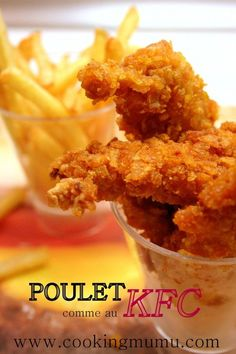 Food Rings Ideas & Inspirations 2017 - DISCOVER Poulet croustillant comme chez KFC Discovred by : Sylviane T Kfc Chicken Recipe, Chicken Recipes, Baked Chicken, Healthy Dinner Recipes, Snack Recipes, Kitchen Recipes, Healthy Food, Fast Food, Street Food