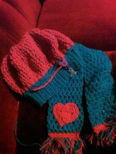 crochet slouch hat and scarf set.