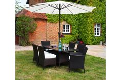 Barcelona Rectangular Rattan Garden Furniture 6 Seat Dining Set WITH FREE COVER WORTH £60