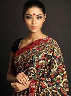 Different Types Of Sarees - For The Love Of Indian Loom Kalamkari Saree, Lehenga Choli, Silk Sarees, Anarkali, Indian Attire, Indian Wear, Indian Dresses, Indian Outfits, Indian Clothes