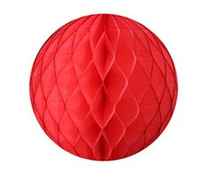 Paper Honeycomb Ball Coral