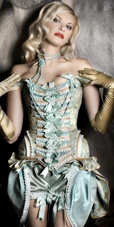 Lingerie: #Corset with Bows. - #SteamPUNK - ☮k☮
