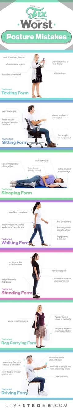Fix poor posture with these posture correction tips.