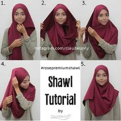 Square Hijab Tutorial, Simple Hijab Tutorial, Hijab Style Tutorial, Stylish Hijab, Hijab Chic, Tutorial Hijab Wisuda, New Hijab Style, How To Wear Hijab, Hijab Trends