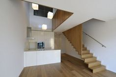 Apartment building Design by Camenzind Evolution - Architecture & Interior Design Ideas and Online Archives Stairs Architecture, Interior Architecture, Open Plan Kitchen Living Room, Architectural Services, Residential Complex, Staircase Design, Luxury Apartments, Building Design, Home Interior Design