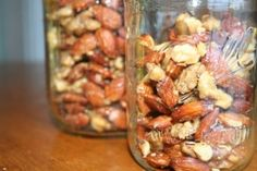 """How to roast nuts so they taste better and last longer : lay out nuts in single layer on a sheet pan or cookie sheet, bake in a 350 degree oven for 15 minutes or until golden brown and fragrant. via Ways To Make Your Groceries Last As Long As Possible"""" Roasted Nuts, Cooking Recipes, Healthy Recipes, Food Facts, Baking Tips, Tostadas, Kitchen Hacks, Food Preparation, No Cook Meals"""