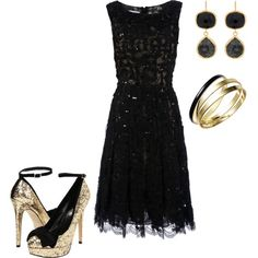 Black and Gold - my 2nd creation on polyvore :)
